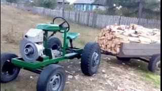 getlinkyoutube.com-Мини трактор 2016 года выпуска.