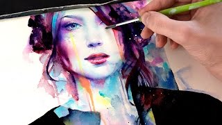 getlinkyoutube.com-【WATERCOLOR PORTRAIT】 With Her Strength