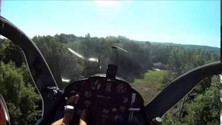 getlinkyoutube.com-Rotorway 162F, Confined Area Landing, Helicopter perspective