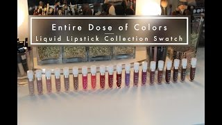 getlinkyoutube.com-Full Dose of Colors Matte Lipstick Collection Swatch with Comparisons