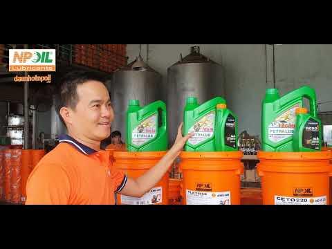 Giới thiệu sản phẩm dầu thủy lực, dầu cầu hộp số, dầu động cơ thuộc thương hiệu PETROLUB