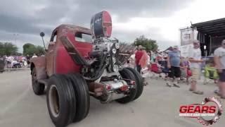 RoadKill Show Stubby Bob's 1950 Ford WheelStanding on Power Tour 2016
