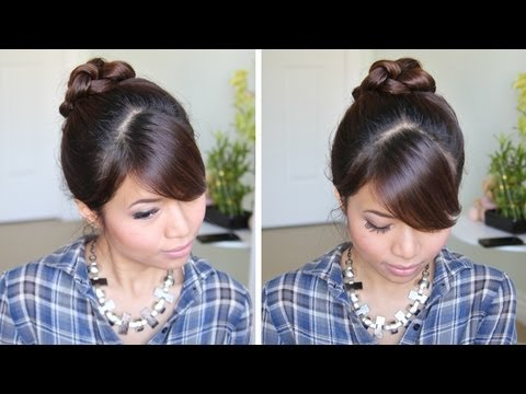 Knotted Hair Bun Updo Hairstyle | Hair Tutorial