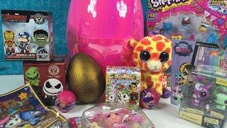 getlinkyoutube.com-Shopkins LPS Beanie Boos MLP Big Surprise Egg Special Shoutouts & Gift