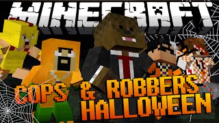 getlinkyoutube.com-Minecraft HALLOWEEN MOD Modded Cops and Robbers w/ JeromeASF & Friends!