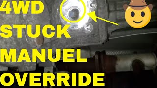 getlinkyoutube.com-How To Override Stuck 4WD On A GMC Vehicle, Transfer Case Control Module Remove and Replace