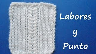 Aprende a tejer el punto espiga lineal en dos agujas