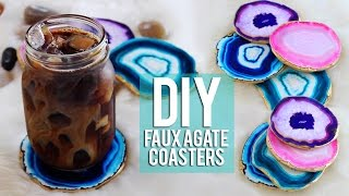 getlinkyoutube.com-DIY Faux Agate Coasters TUMBLR Inspired