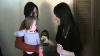 getlinkyoutube.com-Confused Baby Meets her Mom's Twin Sister: Are you my Mother?