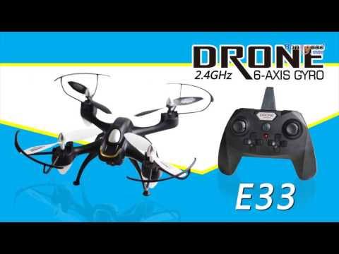 Eachine E33/ E33C/E33W 2.4G 6CH 6-Axis Gyro With Headless Mode LED Light RC Quadcopter RTF