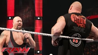 getlinkyoutube.com-Brock Lesnar lays waste to Big Show: Raw, Oct. 5, 2015