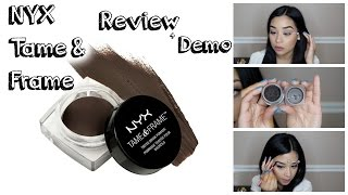 getlinkyoutube.com-NYX Tame & Frame Brow Pomade Demo + Review