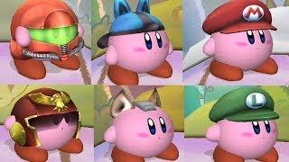 getlinkyoutube.com-All Kirby Hats and Powers in Super Smash Bros Brawl