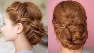 getlinkyoutube.com-Braided Prom Updo Hair Tutorial