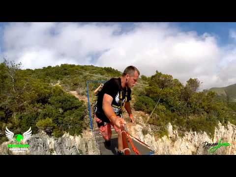 4 Awesome People - Incredible Dream Jump BASE jump in Amazing Navagio Beach (Greece)