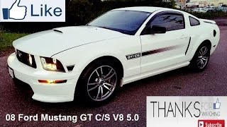 getlinkyoutube.com-08 Ford Mustang GT C/S V8 5.0 Magnaflow Axle Back Exhaust Racing Series for 05-09