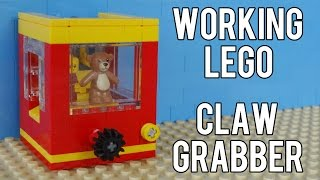 getlinkyoutube.com-How To Build A Working Lego Claw Grabber Machine