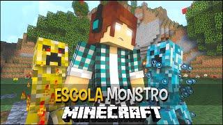 getlinkyoutube.com-Minecraft Escola Monstro #10 - Creepers Diferentes !!  Monster School