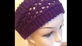 getlinkyoutube.com-How To Knit Easy Lacy Headband - Knitting Lace For Beginners