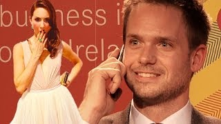 getlinkyoutube.com-Patrick J. Adams (Suits) takes unexpected call from girlfriend Troian Bellisario at UCD, Dublin