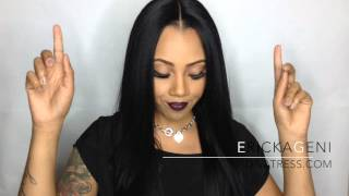 getlinkyoutube.com-DIVATRESS Brown Sugar ISIS BS604 | Lace Front Wig REVIEW