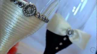 getlinkyoutube.com-Handmade Wedding Glasses - Pahare Nunta