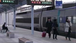 getlinkyoutube.com-KTX : 대전역 진입 부산행 & 마산행 산천   KTX's arriving at Daejeon