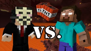 getlinkyoutube.com-Herobrine vs. Hacker - Minecraft