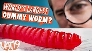 getlinkyoutube.com-Burning Questions: World's Largest Gummy Worm