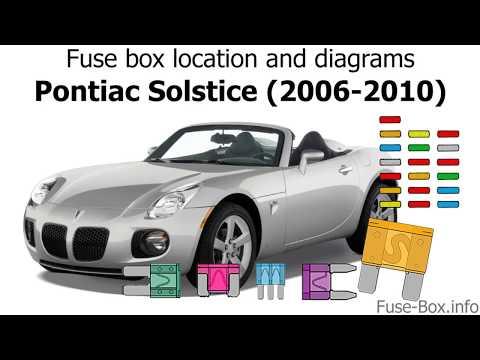 Fuse box location and diagrams: Pontiac Solstice (2006-2010)