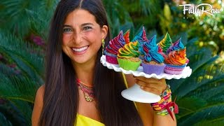 getlinkyoutube.com-FullyRaw Vegan Rainbow Unicorn Cupcakes for my Birthday!