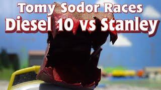 getlinkyoutube.com-Tomy Sodor Races Diesel 10 vs Stanley Race 4 Round 3