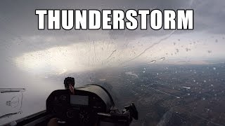 getlinkyoutube.com-Glider Flying in Big Thunderstorm - apocalyptic views