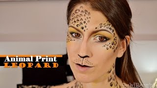 getlinkyoutube.com-Maquillaje Fantasía | Animal print: Leopard
