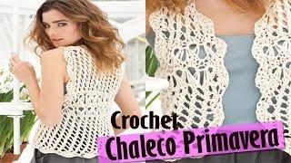 getlinkyoutube.com-Chaleco Sweater Mujer Tejido a Crochet ( Diseños Primavera Verano )