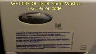 getlinkyoutube.com-Whirlpool duet sport F21 error code fix