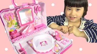 getlinkyoutube.com-メルちゃん おもちゃ おしゃれびようしつ 美容院 なかよしパーツ お世話 Baby Doll Mellchan hair salon