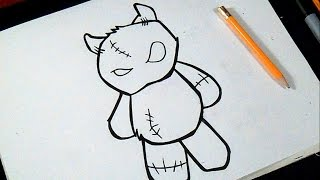 comment dessiner un ours en peluche | Graffiti