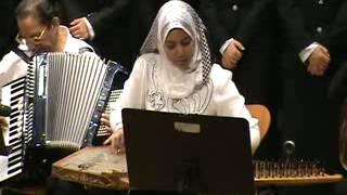 getlinkyoutube.com-يامسهرنى - عزف على القانون لياسمين محمد - المكتبة - 11/8/2012