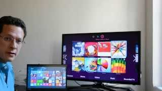 getlinkyoutube.com-Miracast Wireless Display with Windows 8.1 - Stream PC to TV without Adapters!