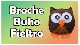 getlinkyoutube.com-Broche de fieltro Buho - owl felt brooch