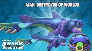 getlinkyoutube.com-Hungry Shark Evolution: Alan, Destroyer of Worlds - Explore a Whole New Planet