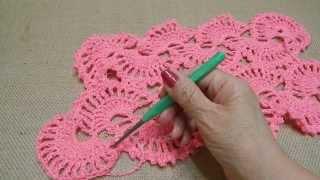 getlinkyoutube.com-Chal de Abanicos Crochet parte 2 de 2