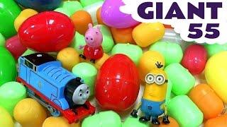getlinkyoutube.com-Giant Surprise Egg Peppa Pig Thomas and Friends Minions Compilation | Huevos Sorpresa