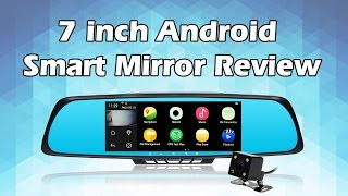 "getlinkyoutube.com-Toguard M30 7"" android Smart rearview mirror WIFI Dual lens dash cam GPS navigation FM transmitter"