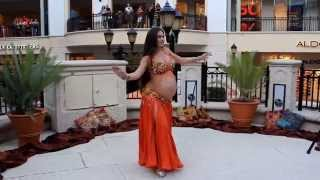 getlinkyoutube.com-Portia of Belly Motions dances at 9 months pregnant!