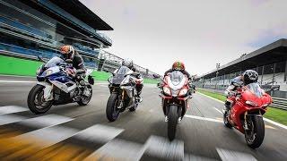 getlinkyoutube.com-1000 Superbike test: Aprilia RSV4RF vs. BMW S1000RR vs. Ducati 1299S Panigale vs. Yamaha YZF R1M