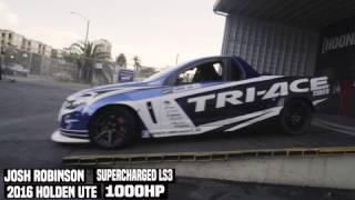 1,000HP Drift Holden Ute Burnouts and Donuts at the Donut Garage