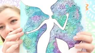 getlinkyoutube.com-Dibujo con Siluetas y Mandalas! Dani Hoyos Art