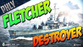 getlinkyoutube.com-World Of Warships Gameplay! My Favorite Destroyer! Tier 9 FLETCHER!